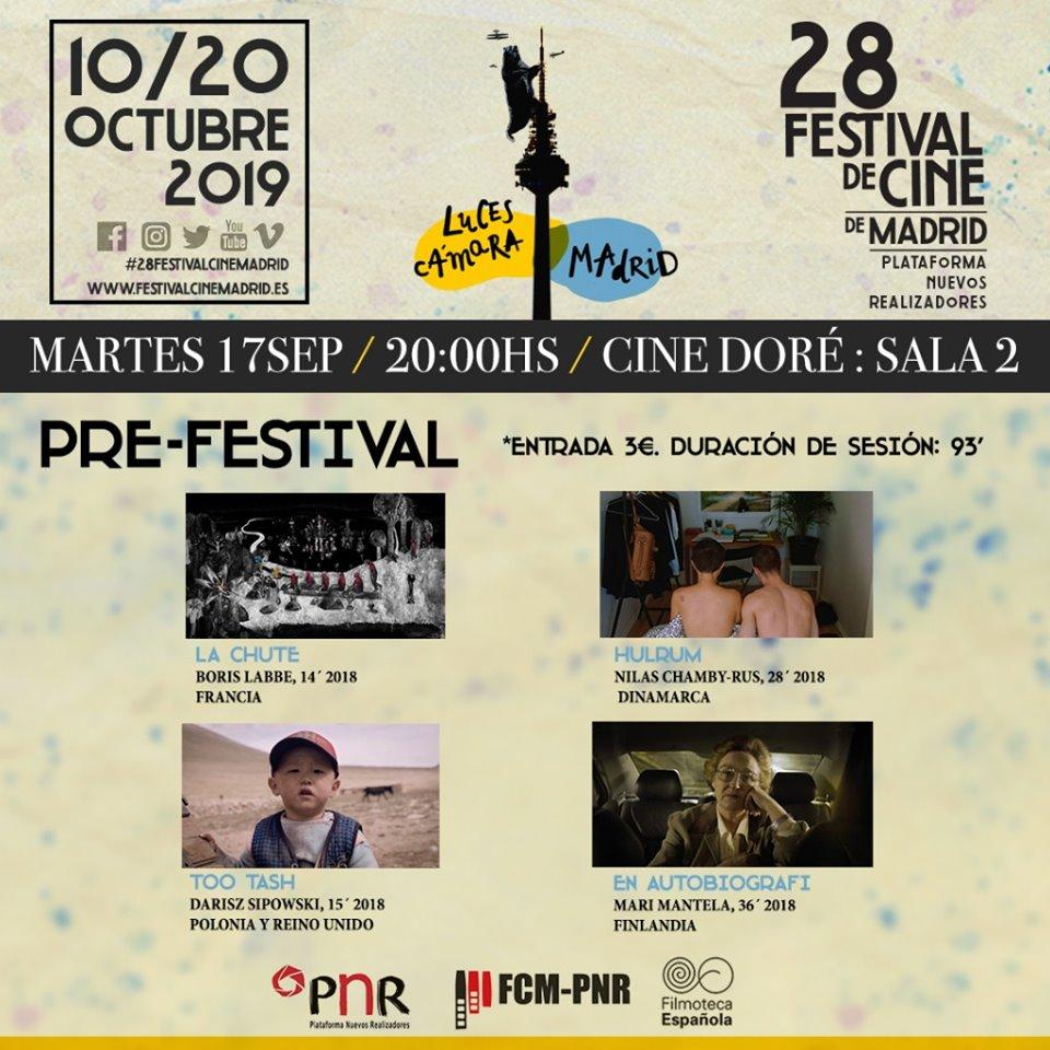 El FCM-PNR celebra el Pre-Festival con 3 proyecciones de cortos en Cineteca, Cine Dore y Conde Duque