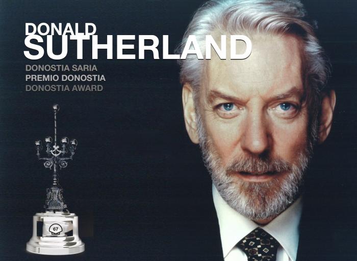 Donald Sutherland, Premio Donostia por medio siglo de excelencia interpretativa