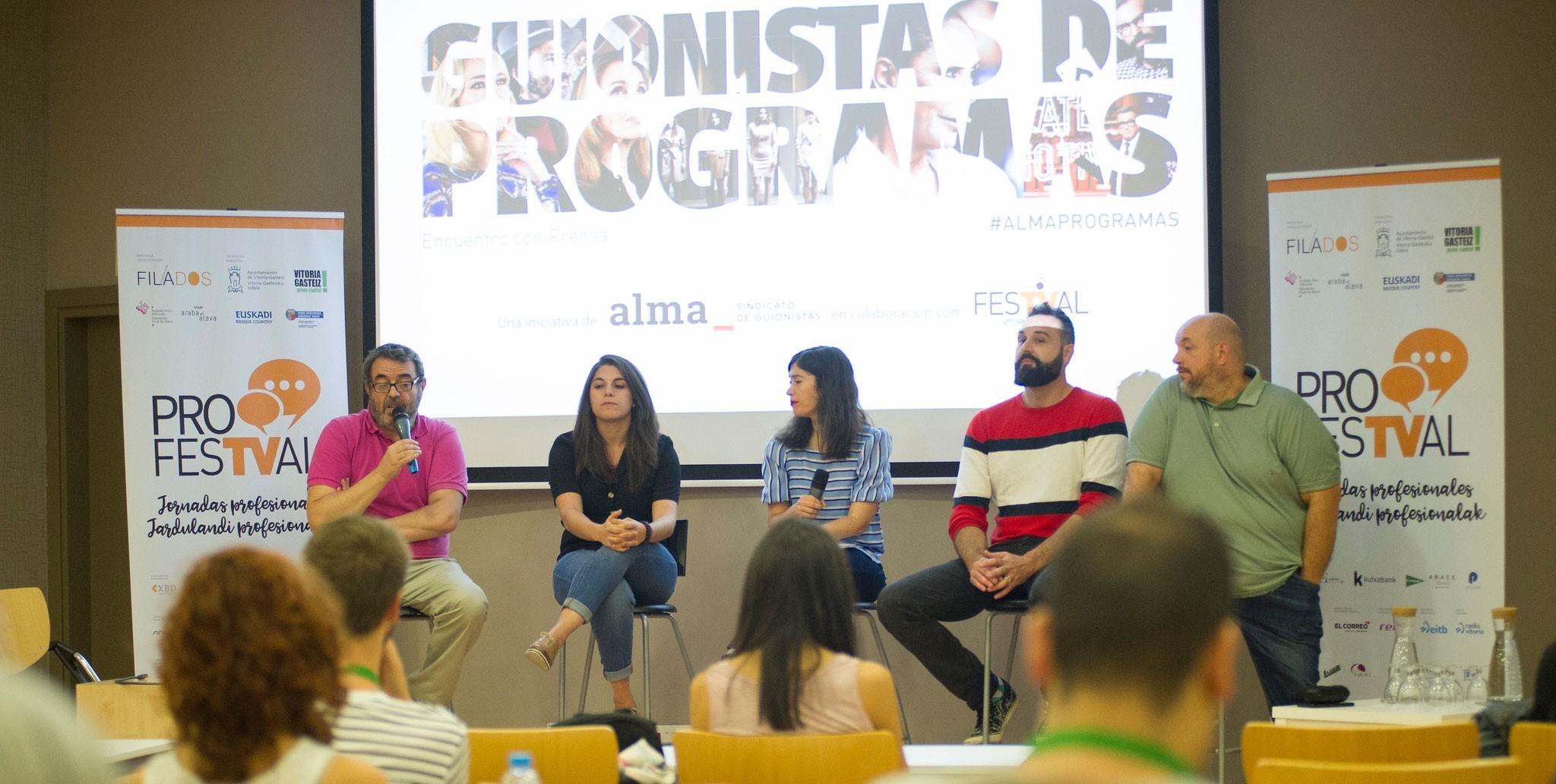 El sindicato de guionistas ALMA celebró el 6 de septiembre su III Encuentro de Guionistas de Programas en el FesTVal de Vitoria-Gasteiz