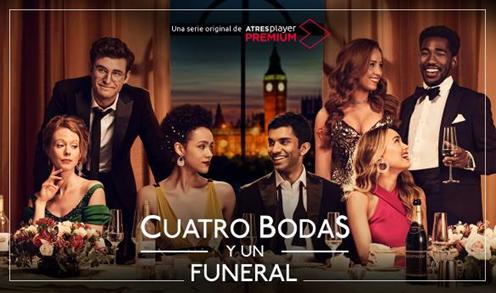 ATRESplayer PREMIUM estrena en exclusiva 'Cuatro bodas y un funeral' el próximo 6 de octubre