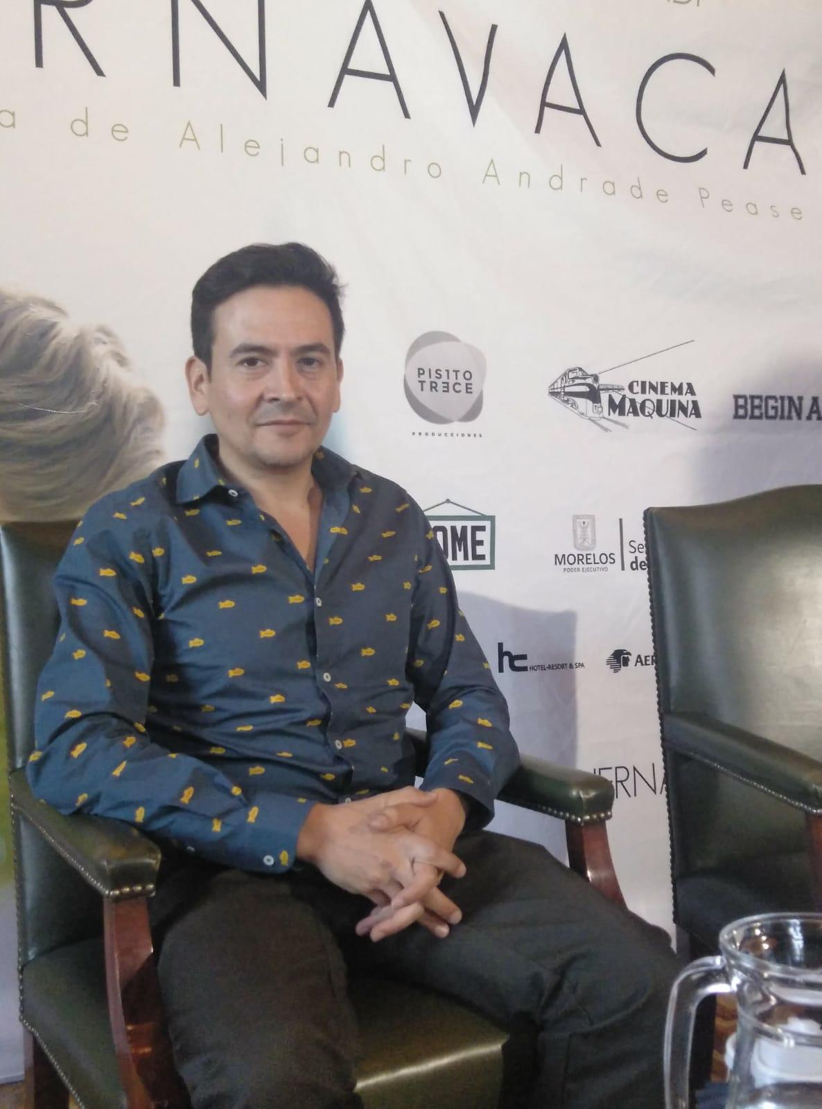 """Alejandro Andrade: """"Cuando estaba escribiendo el guion yo también estaba en un momento de cambio profundo""""."""