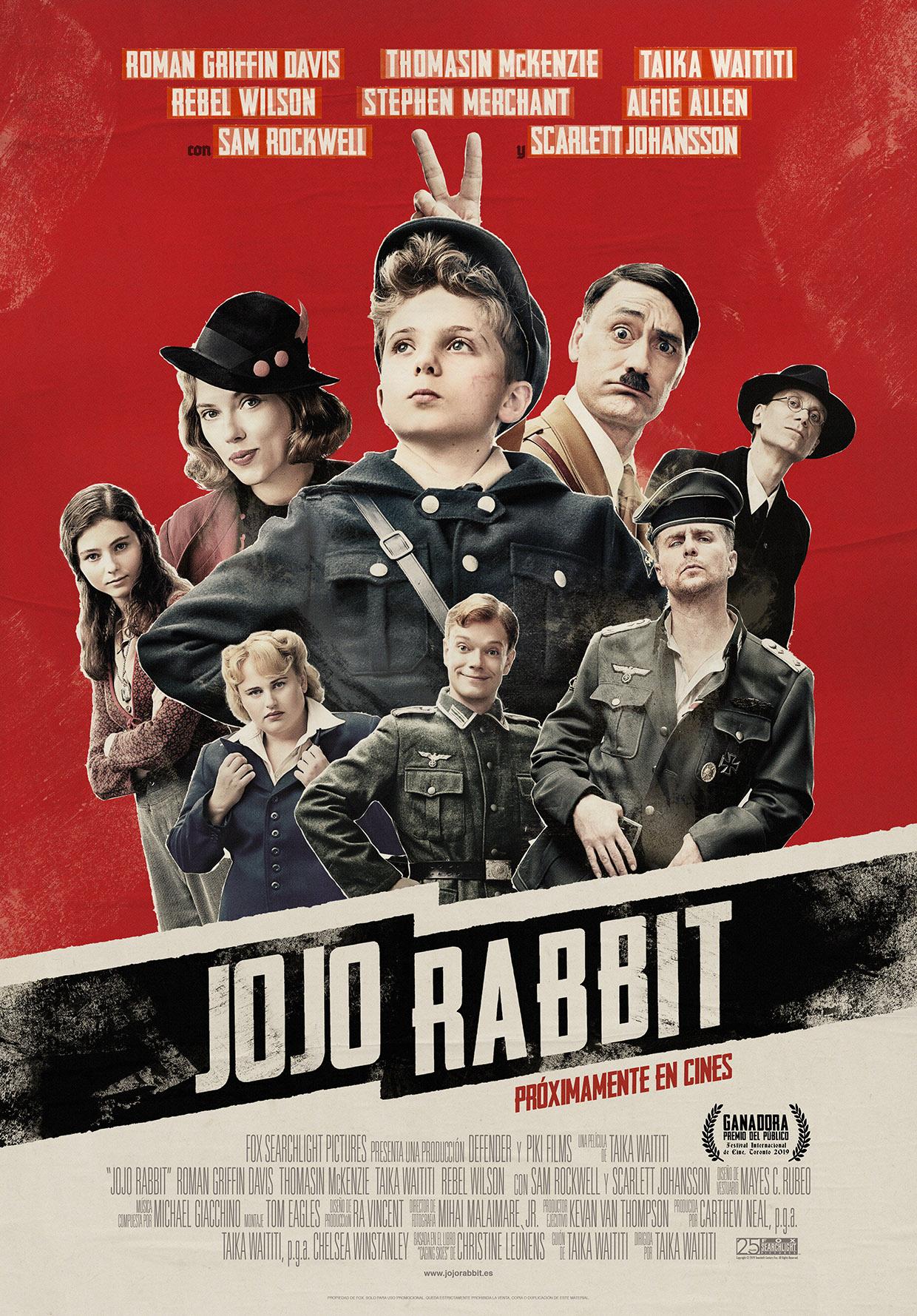 'JoJo Rabbit' se estrena el próximo 17 de enero de 2020