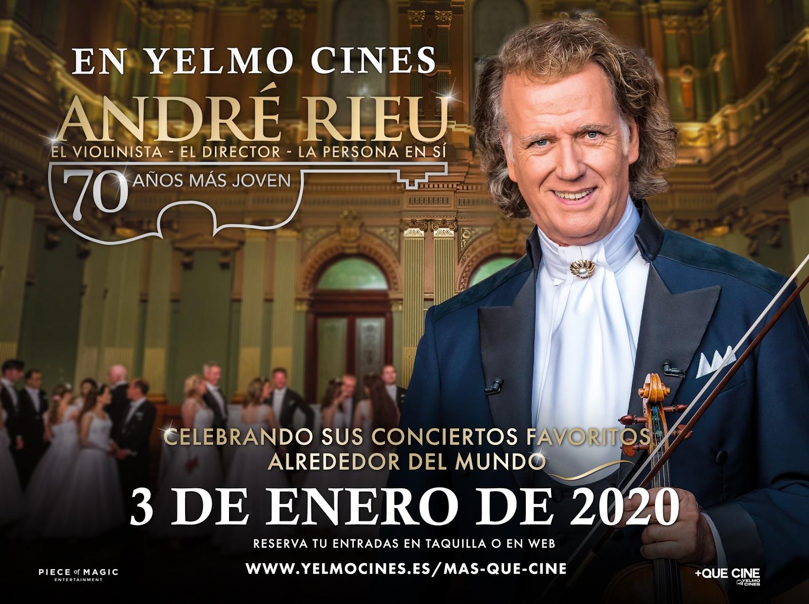 """+Que Cine de Yelmo Cines te invita a celebrar el cumpleaños del """"rey de vals"""": André Rieu 70 años más joven"""