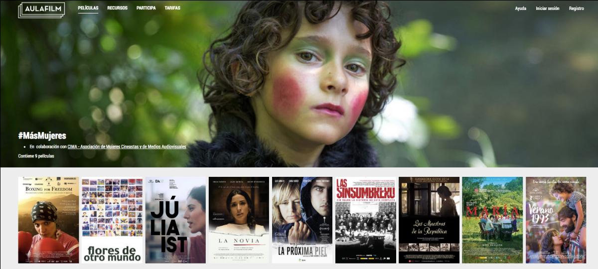 CIMA y Aulafilm presentan la colección #MásMujeres para mostrar a los jóvenes el trabajo de las directoras de cine