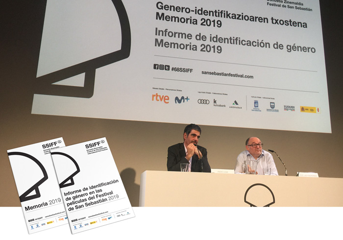 El Festival de San Sebastián publica por primera vez un informe de identificación de género de las y los profesionales de las películas de su última edición