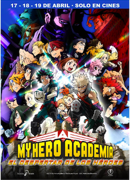 'My Hero Academia: El despertar de los Héroes', en abril en cines