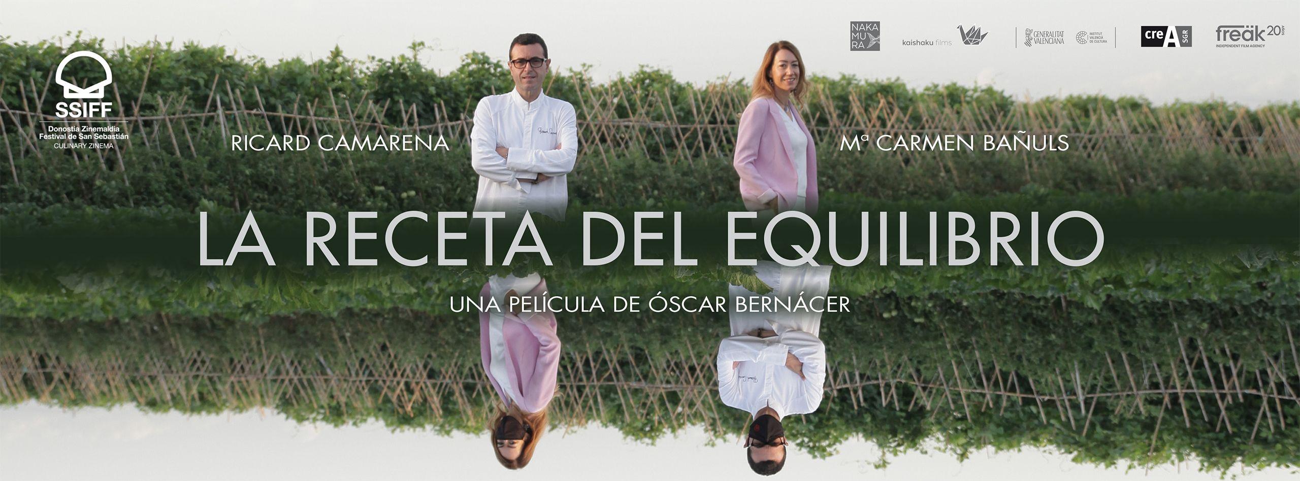 'La Receta del Equilibrio', el documental protagonizado por Ricard Camarena y Mari Carmen Bañuls, se estrena en el Festival de San Sebastián
