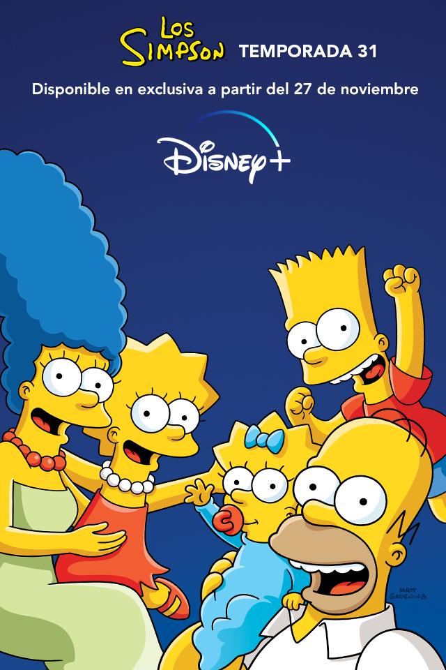 La temporada 31 de 'Los Simpson' llega el 27 de noviembre a Disney +