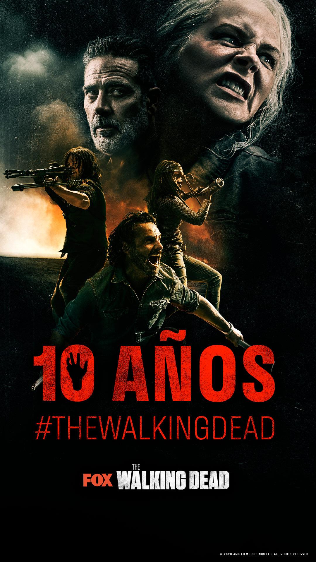 Fox celebra el décimo aniversario de 'The Walking Dead' con una pieza conmemorativa