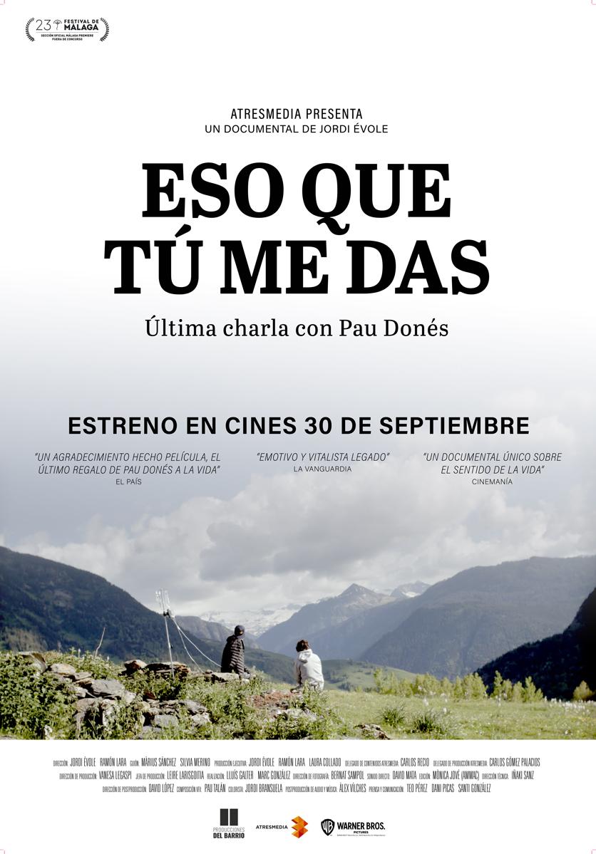 'Eso que tú me das' ya supera los 150.000 espectadores y se convierte en el documental español más visto en cine en los últimos 10 años