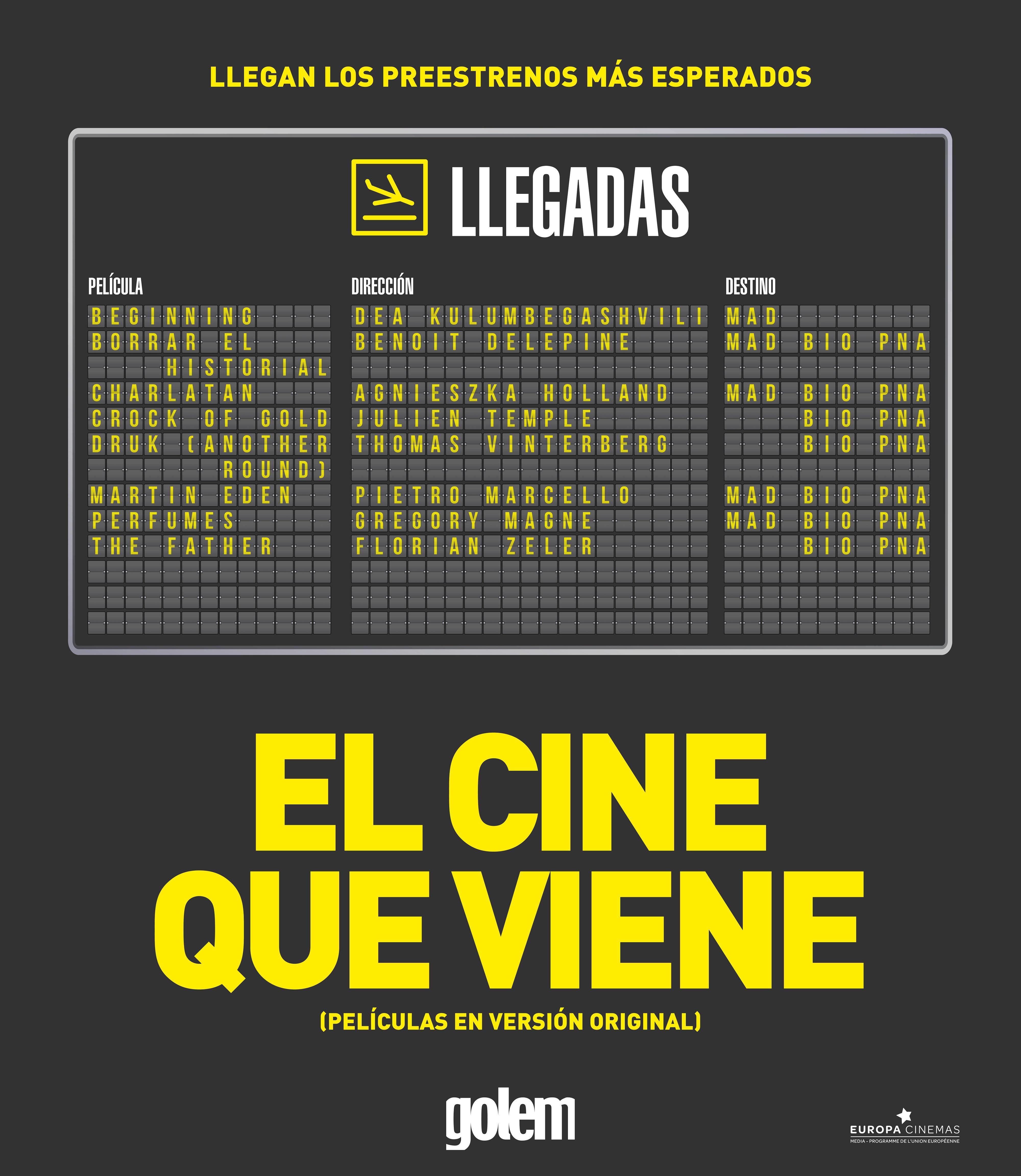 'El cine que viene', un evento excepcional organizado por Cines Golem
