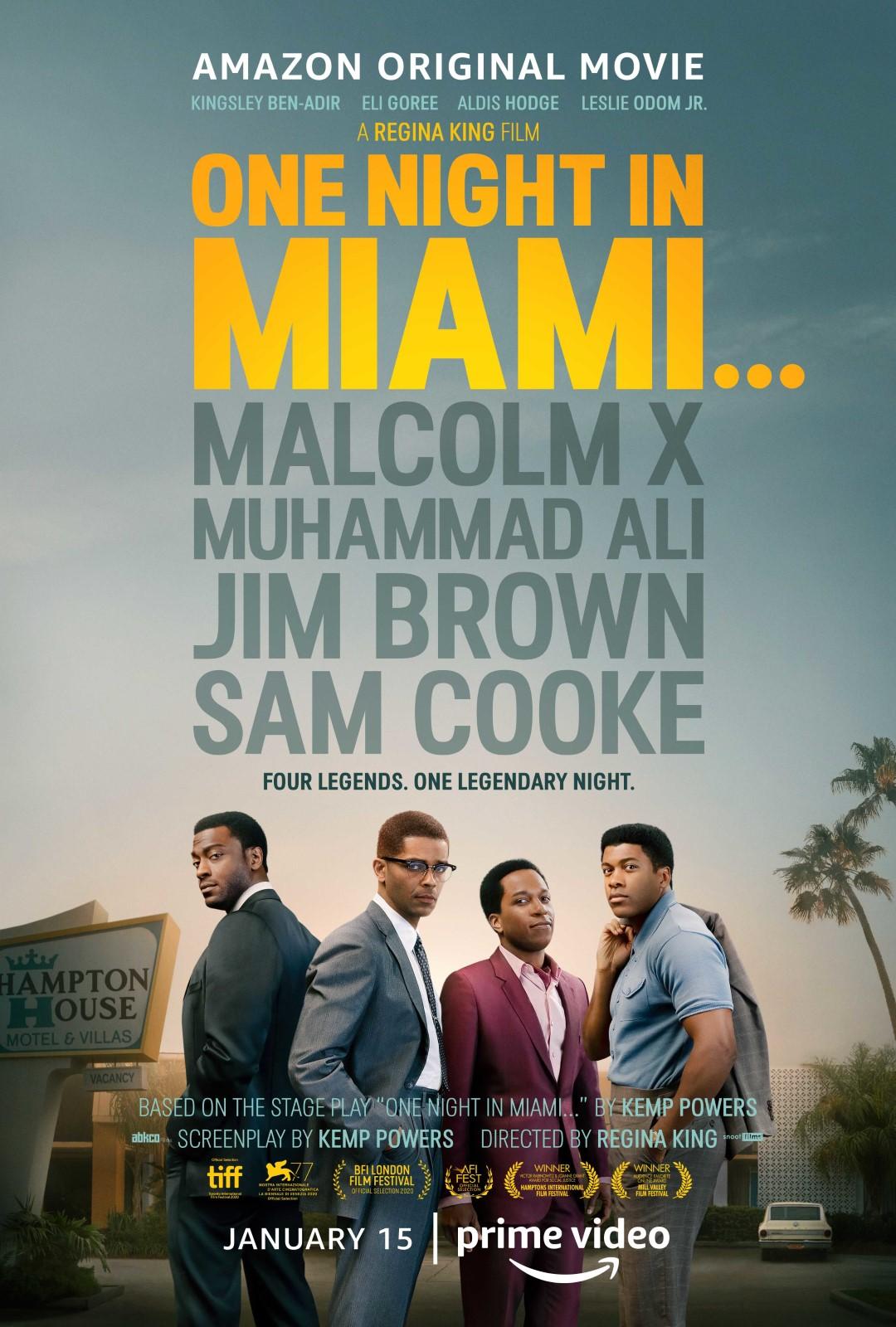 'One Night in Miami': una impecable reflexión sobre los derechos humanos