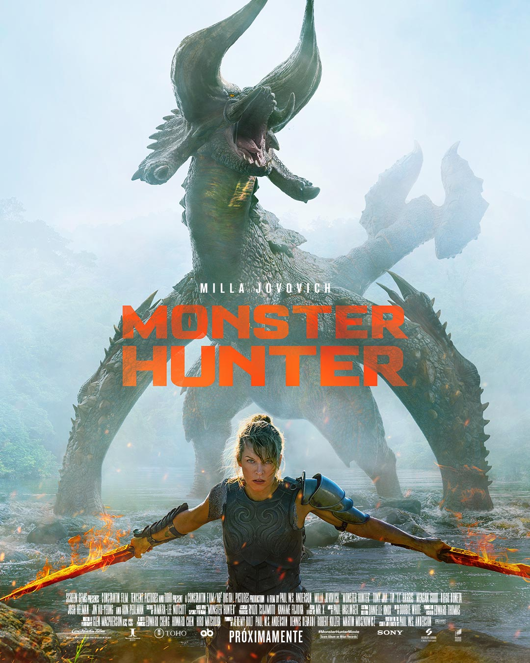 'Monster Hunter' y 'Morbius' retrasan sus estrenos en cines