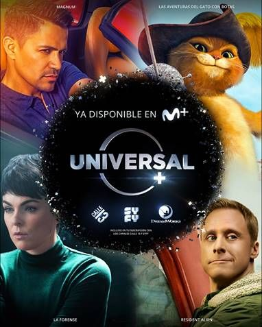 Universal + ya está disponible en Movistar +