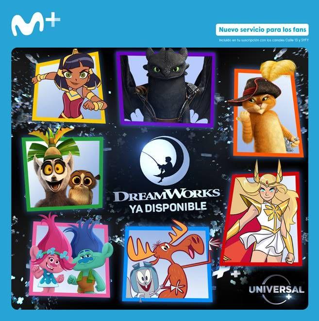 Dreamworks ya está disponible en España con Movistar +