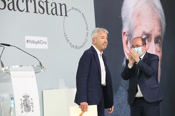El ministro de Cultura y Deporte entrega a José Sacristán el Premio Nacional de Cinematografía 2021