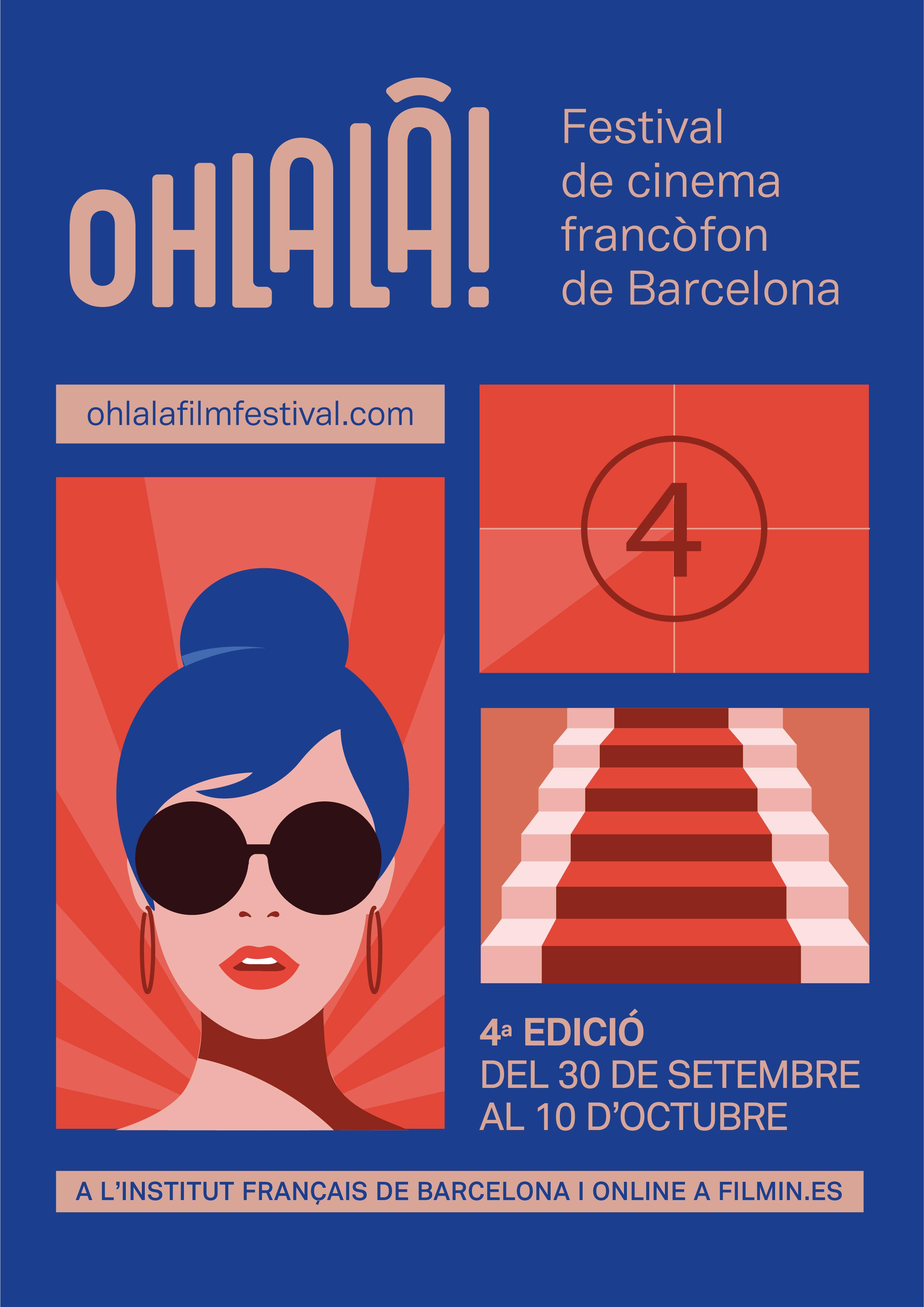 Descubre la programación completa de la 4ª edición del OHLALÀ! Festival de cine francófono de Barcelona